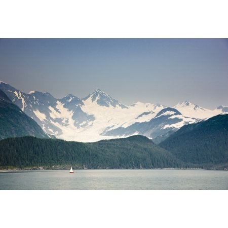 View Of Passage Canal Whittier Southcentral Alaska Summer Canvas Art   Kevin Smith  Design Pics  36 X 24