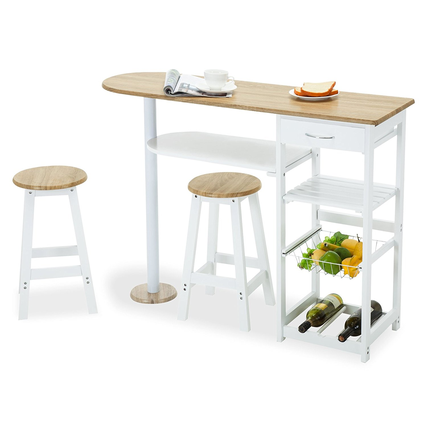 Kitchen Island Cart With Stools 4 family kitchen island cart trolley portable rolling storage