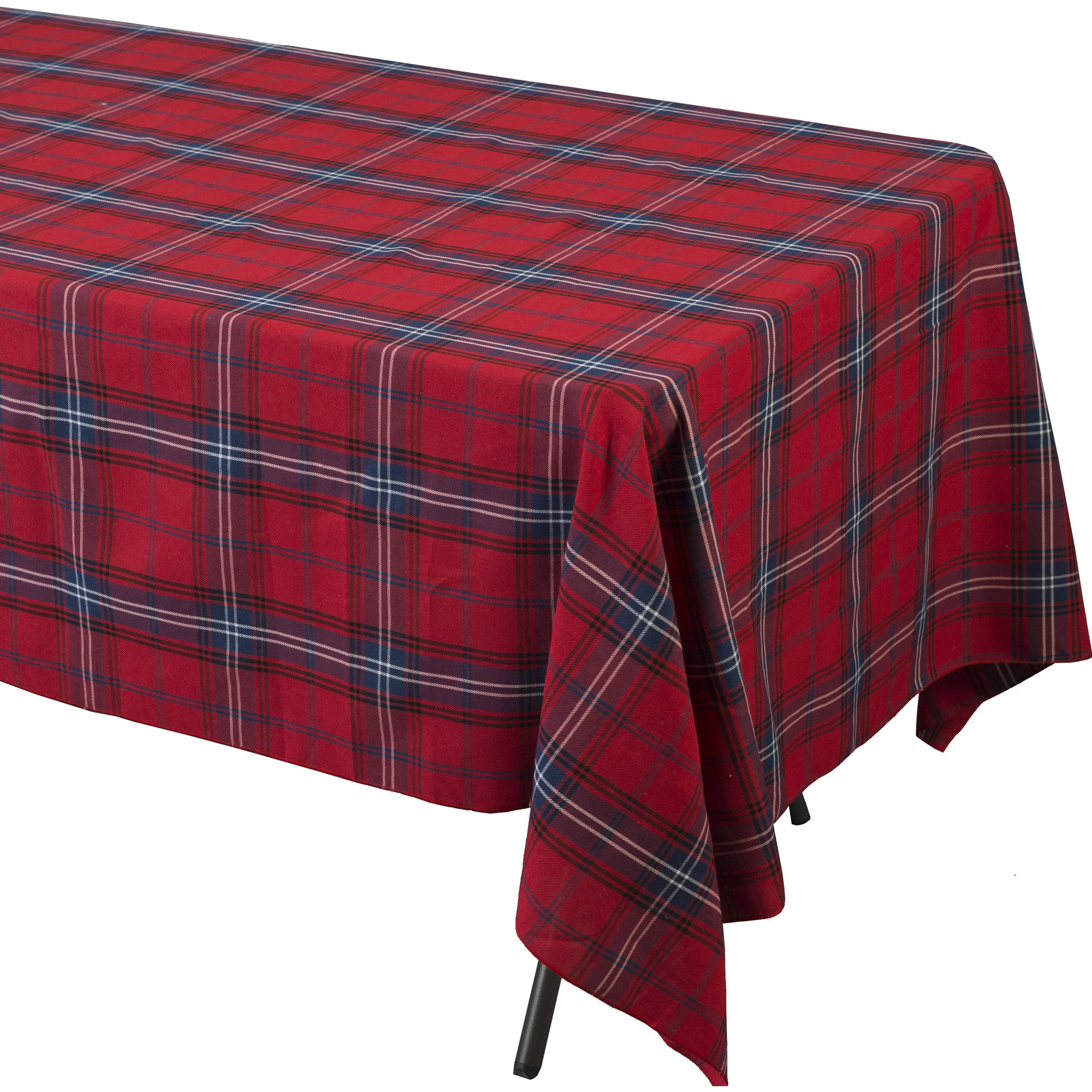 Tartan Plaid Rectangular Polyester Table Cover