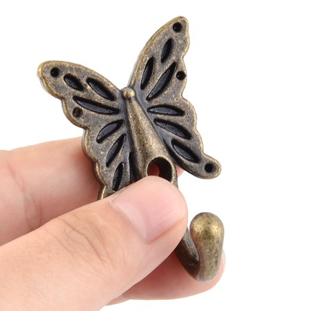 Home Metal Butterfly Vintage Style Handbag Coat Hanger Hook Bronze Tone 5 Pcs - image 3 de 4