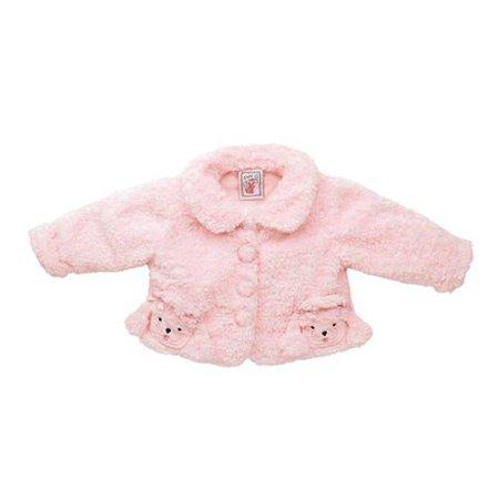 Fuzzy Wear Girls Pink Poodle Jacket, 12-18 - Funky Punk