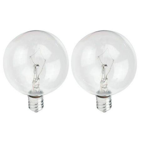 Philips 60w 120v G16.5 Clear E12 DuraMax Decorative Incandescent lamp - 2 bulbs