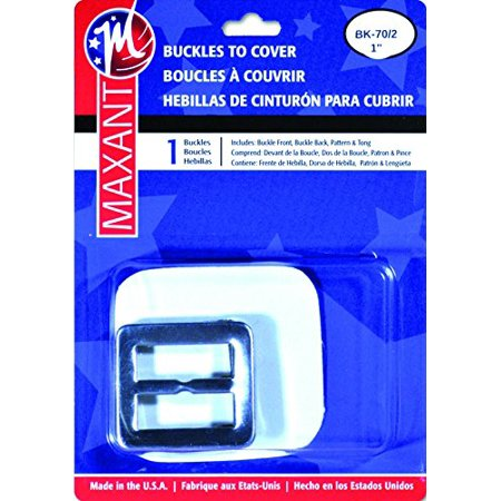 "Maxant Covered Belt Buckle Kit and 44"" of Belting - 1-Inch, Square1"