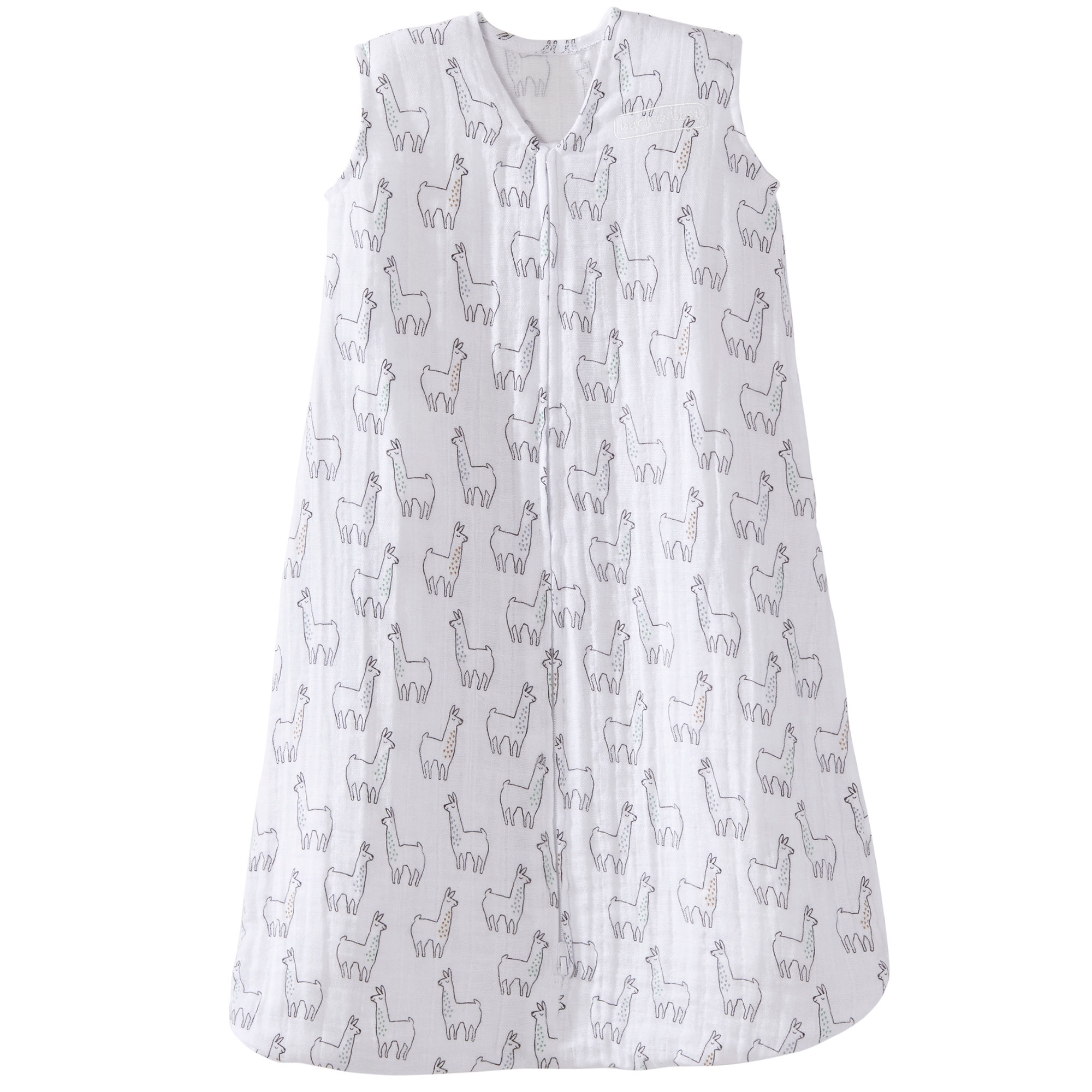 Halo 100% Cotton Muslin Baby Sleepsack Wearable Blanket, Llama Print, Extra-Large