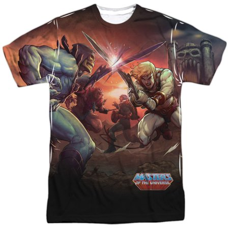 Masters Of The Universe Battle (Front Back Print) Mens Sublimation Shirt 2X