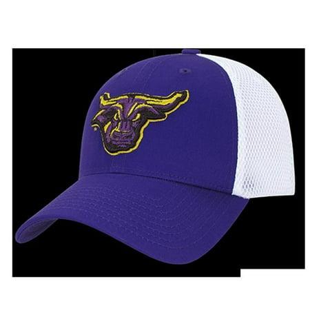 W Republic Apparel 1021-132-PURWHT Minnesota Structured Mesh Flex Cap, Purple - image 1 de 1