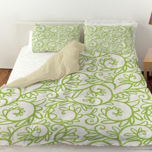 Manual Woodworkers & Weavers Funky Florals Swirl Pattern Duvet Cover