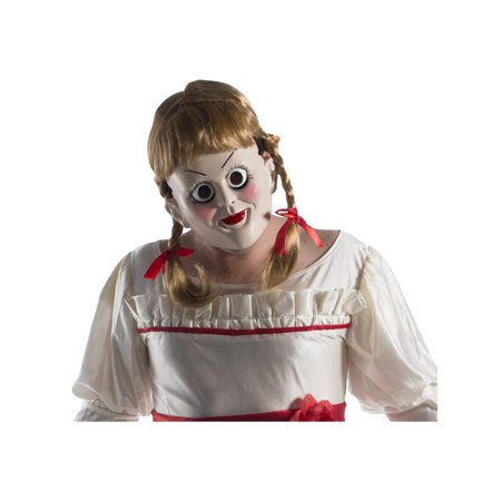 Annabelle: Creation Annabelle Mask With Wig Halloween Costume Accessory (Holloween Masks)
