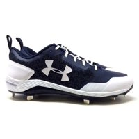 ce0165b25 Product Image Under Armour Mens Yard Low ST Metal Baseball Cleats Navy Blue White  Size 14 M US