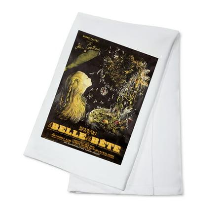 France - La Belle et la Bete - (artist: Malcles, Jean Denis c. 1946) - Vintage Advertisement (100% Cotton Kitchen