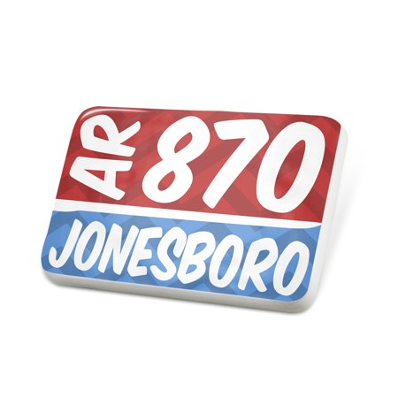 Porcelein Pin 870 Jonesboro, AR red/blue Lapel Badge – NEONBLOND](Halloween Jonesboro Ar)