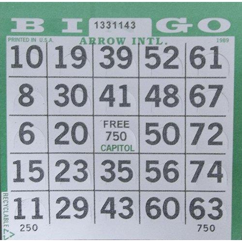 Bingo Paper 1on Pushout Paper Full Case Green 3000 Sheets