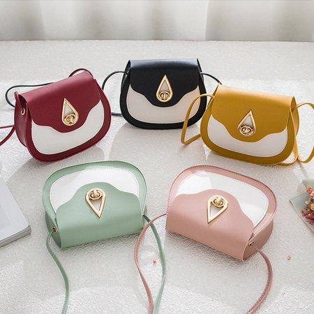 Fashion contrast saddle bag Casual Shoulder Messenger Bags Female Bags - image 6 de 7