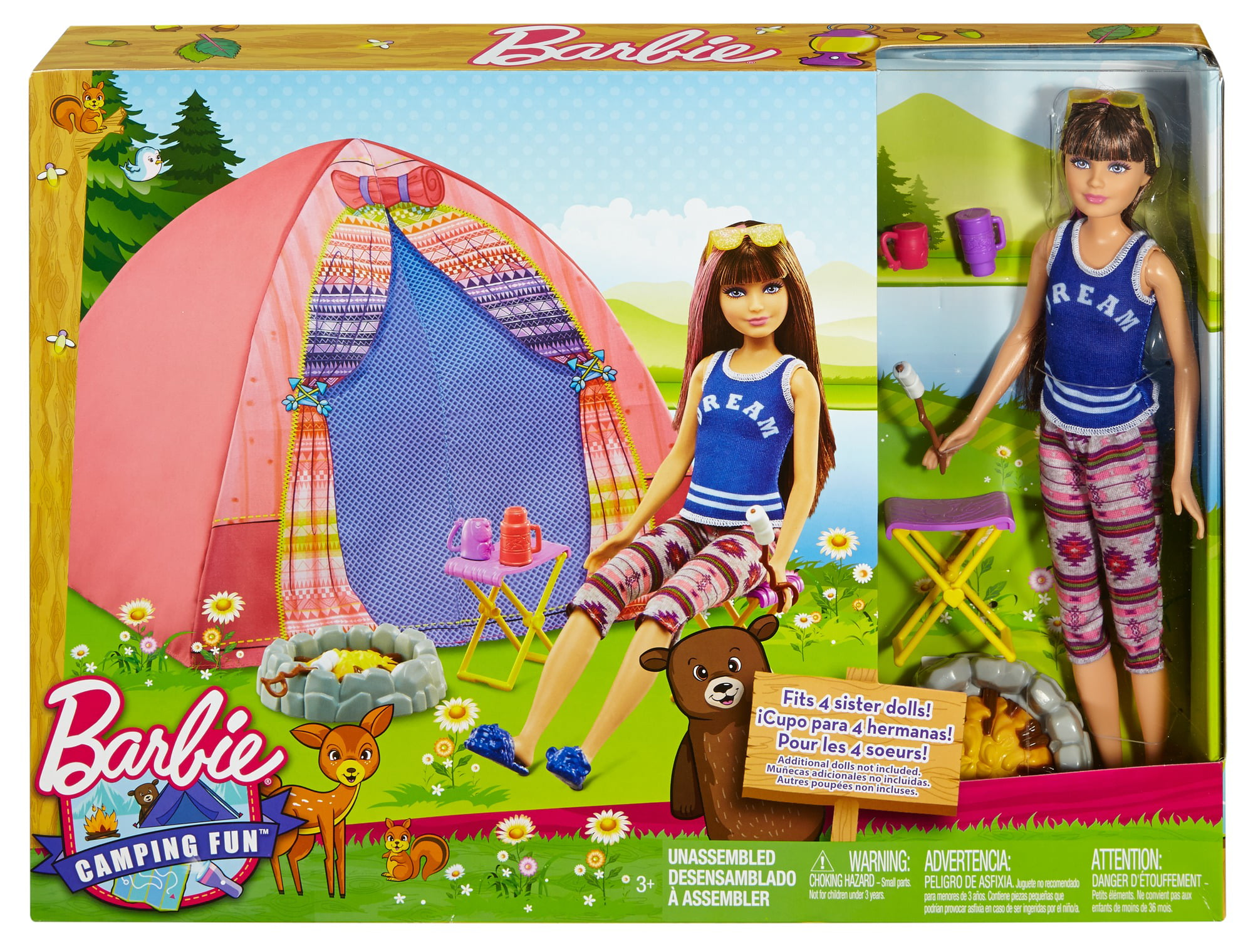Barbie Camping Fun Skipper Doll and Tent Playset Walmart
