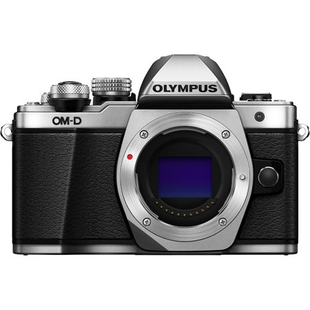 Olympus OM-D E-M10 Mark II Micro Four Thirds Digital Camera Body (Silver) Certified