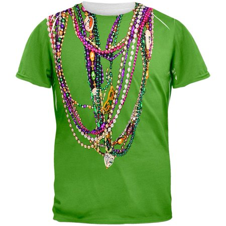 Mardi Gras Color Meaning (Mardi Gras Beads Green All Over Adult)