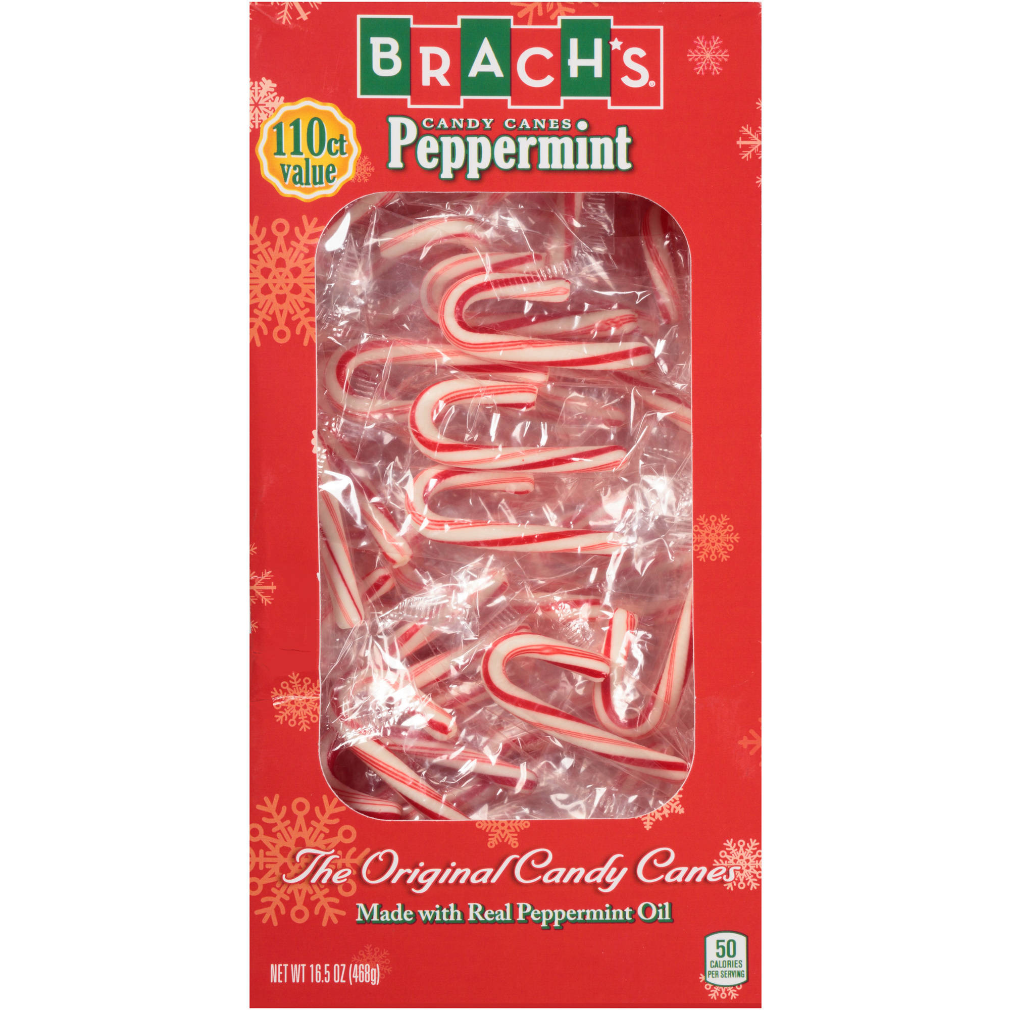 Brach's Holiday Mini Peppermint Candy Canes, 110 count, 16.5 oz