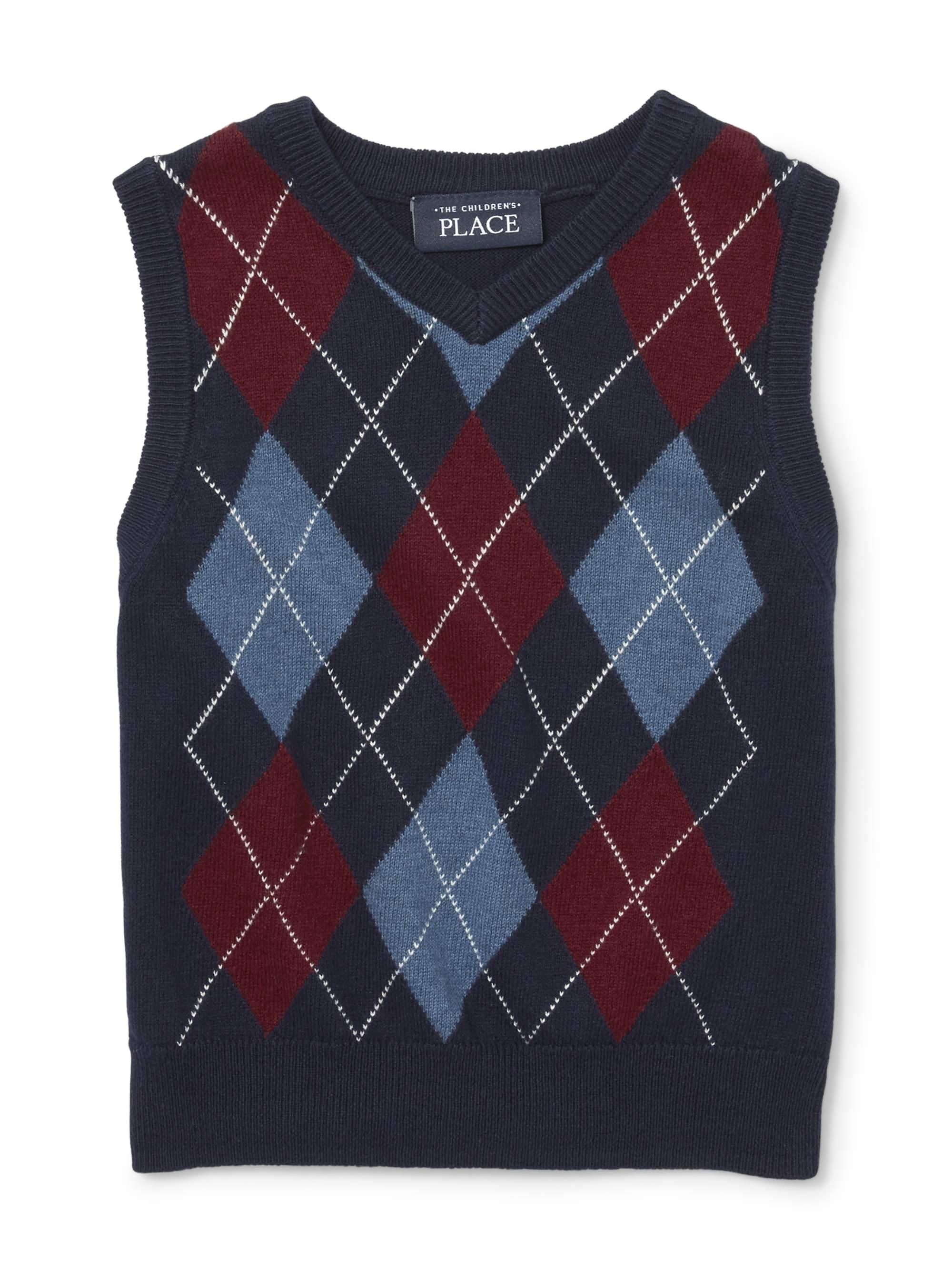 Toddler Boys Argyle Sweater Vest