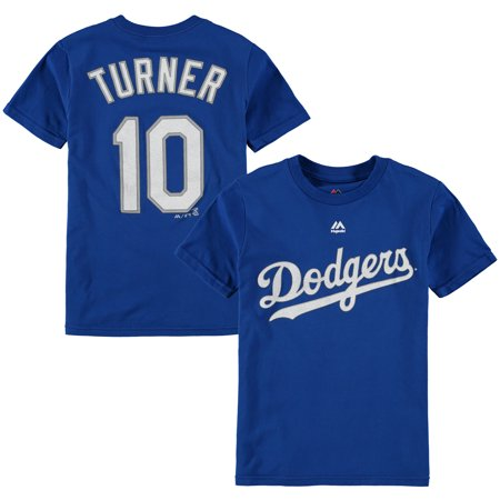 Justin Turner Los Angeles Dodgers Majestic Youth Player Name & Number T-Shirt - (Royal Blue Youth Players T-shirt)