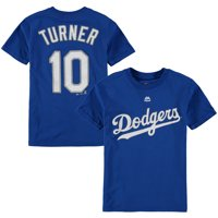 0ad937826 Product Image Justin Turner Los Angeles Dodgers Majestic Youth Player Name    Number T-Shirt - Royal