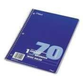 mea05512 - spiral bound single-subject college rule notebook by mead