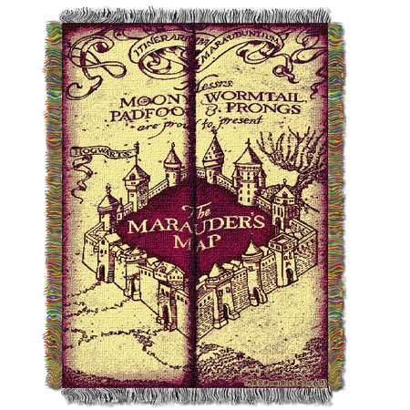 Harry Potter Marauders Map  Woven Tapestry Throw (48inx60in) (Marauders Map Throw)