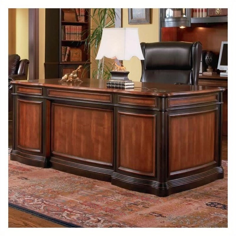 Bowery Hill Executive Desk with Felt Lined Drawers