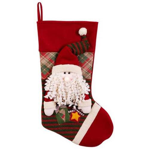 "23"" Santa Christmas Stocking 33649"