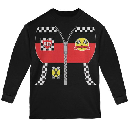 Halloween Hot Rod Costume Racing Youth Long Sleeve T Shirt - Racing Costumes