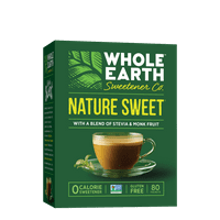 Whole Earth Sweetener for Coffee & Tea Nature Sweet Sugar Substitute Zero Calorie Sweetener, 80 count