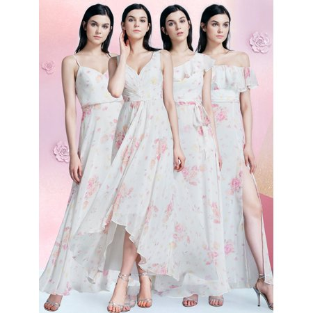 44834e57c66 Ever-pretty - Ever-Pretty Women s Elegant High-Low Floral Semi-Formal  Evening Homecoming Party Bridesmaid Dresses for Women 07383 US 6 -  Walmart.com