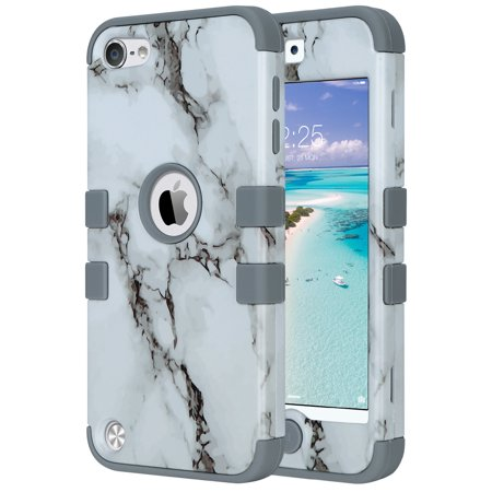 best website 82d40 afbb0 Pod Touch 6th Generation Case, iPod Touch 5th Generation Case, ULAK Marble  Hard Dual Layer Hybrid Case For Apple iPod Touch 6th 5th Gen Case Cover