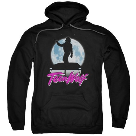 teen wolf moonlight surf mens pullover hoodie black 3x. Black Bedroom Furniture Sets. Home Design Ideas