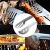 3PCS Barbecue Utensils BBQ Grill Tools Set Barbecue Accessories Kit Spatula Tongs and Fork Stainless Steel GlSTE