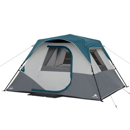 28h Cabin - Ozark Trail 6-Person Instant Cabin Tent with LED Light