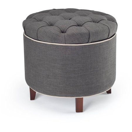 - Safavieh Amelia Tufted Storage Ottoman, Multiple Colors - Walmart.com