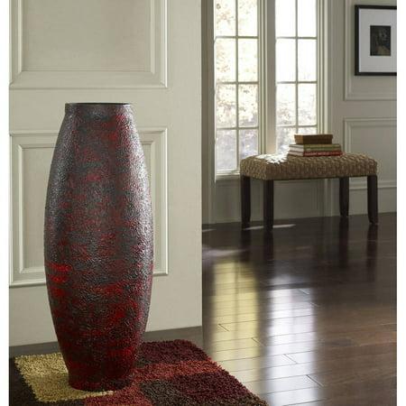 Embossed Red Decorative Vase Walmart