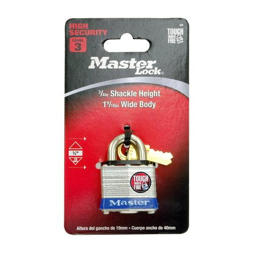 """Master Lock 1-9/16"""" Lam Pin Tumbler Lock"""