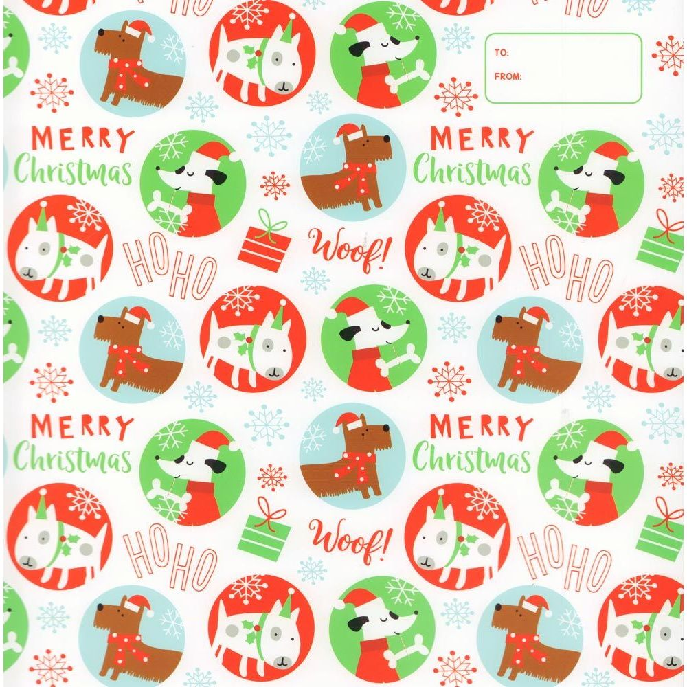 Doggie Merry Christmas Wrapper, Calendar Wrappers by Calendar Ink