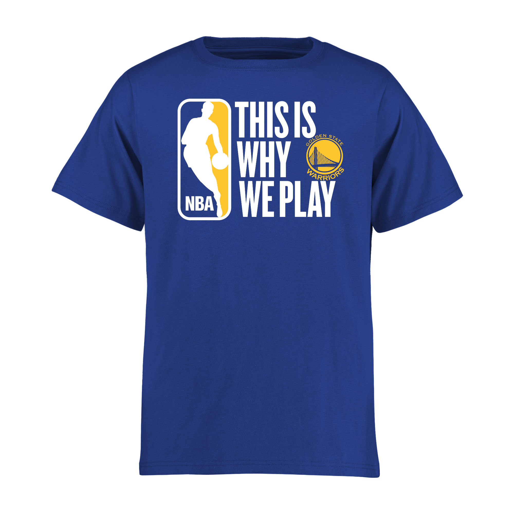 Golden State Warriors Youth This Is Why We Play T-Shirt - Royal