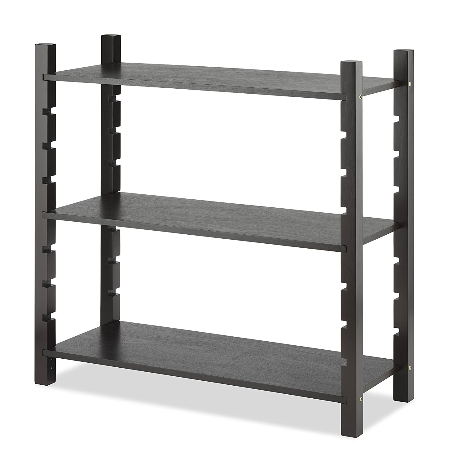 Modular 3 Tier Shelving, Walnut