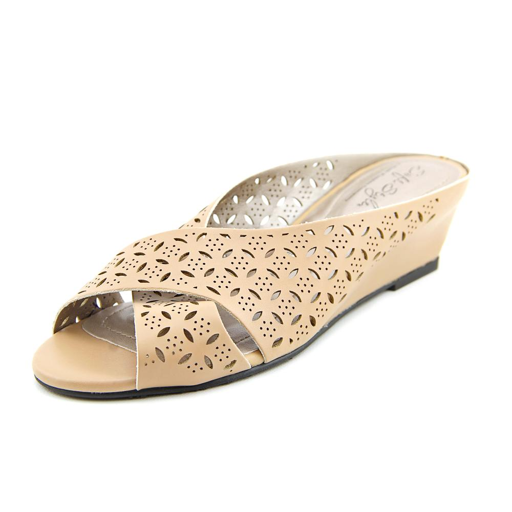 Soft Style by Hush Puppies Elida Women N/S Open Toe Synthetic Nude Slides Sandal