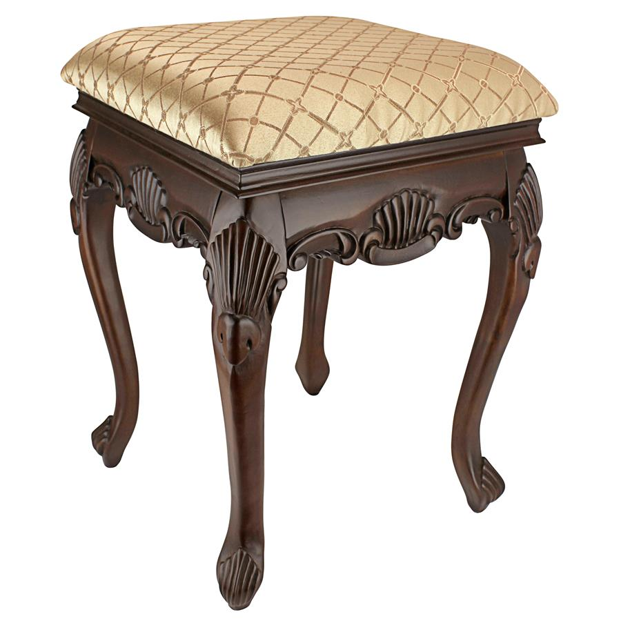 Madame Bouvier Boudoir Stool: Walnut