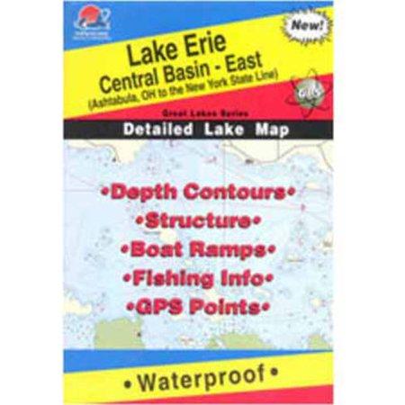 Fishing Hot Spots Lake Erie Fishing Map Central Basin East L - Lake erie fishing hot spots map