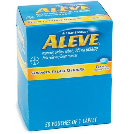 - Aleve, ACM90010, Pain Reliever Tablets, 50 / Box