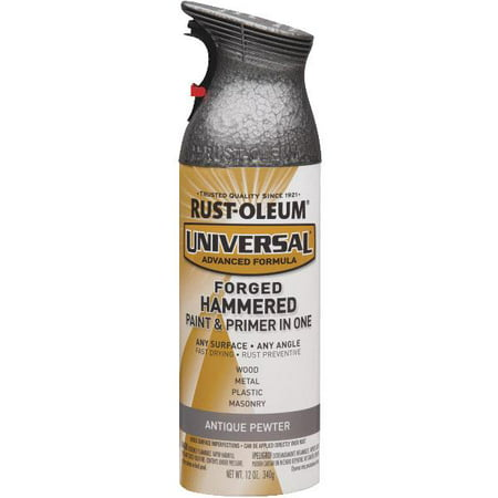 (3 Pack) Rust-Oleum Universal All-Surface Forged Hammered Antique Pewter Spray Paint and Primer in 1, 12 - Hammered Pewter Finish