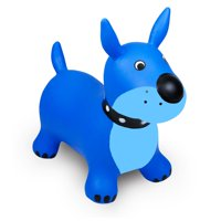 Waddle! Dog Bouncer! Inflatable Ride on Toy (Blue)