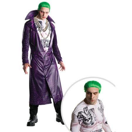Adult Suicide Squad Joker Costume and Suicide Squad Joker Adult Wig](Joker Wig)