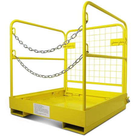 Forklift Safety Cage Work Platform Collapsible Lift Basket Aerial Rails 36 X36