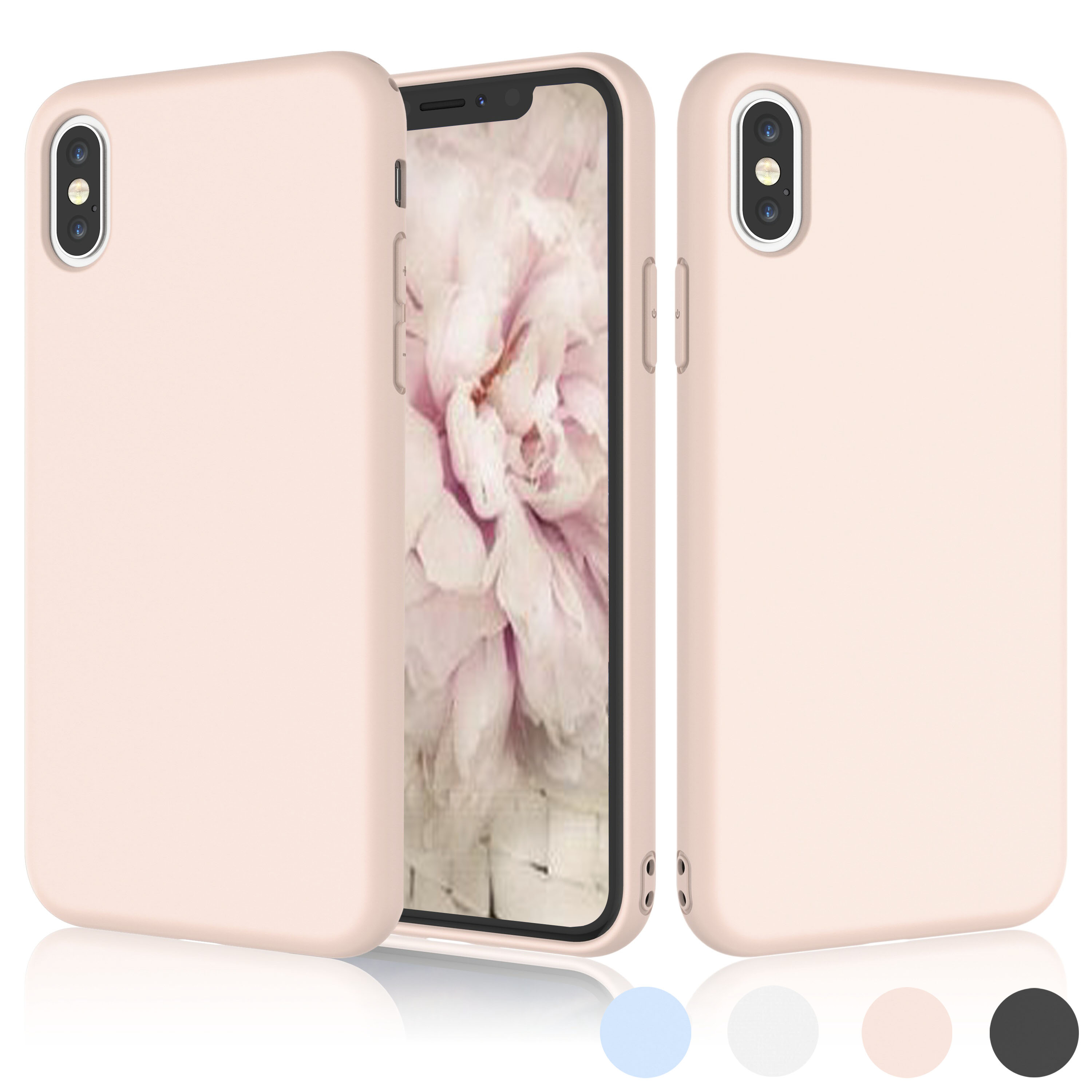 iPhone X Case, iPhone X Case For Girls, iPhone 10 Case, Njjex Matte Charming Colorful Slim Soft TPU Bumper Case Cover For Apple iPhone X 2017 Release -Pink